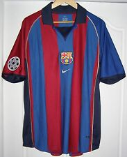 Camiseta Barcelona 2001 - 2002 home shirt Rivaldo 10 Champions League jersey