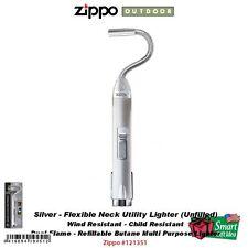 Zippo Silver Flex Neck Utility Lighter, Wind Resistant, Unfilled #121351