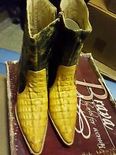 JOE  BOOTS BY ARLES WOMENS GENUINE LEATHER CROCODILE MADE IN MEXICO SZ 7 M NWT