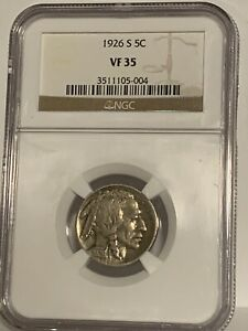 5 CENT BUFFALO NICKEL NGC VF35 1926-S KEY DATE