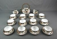 Rare Vintage Nippon Tokusei Red & Gold Dragons Tea Set 1930s 15 Pieces