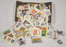 Box of USED Stamps USA & Around The World INTERNATIONAL Postage CRAFTS Vtg 1979