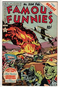 "FAMOUS FUNNIES #204 (1953) - GRADE 5.0 - ""TRUE HEROIC STORIES""!"