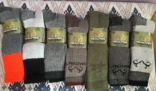 Realtree Merino Wool Socks Outdoor Hiking Camp Winter Socks Multi Size 9-13 6pc