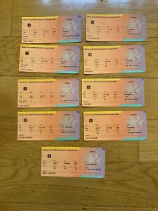 Used 1984 Olympic Game Tickets