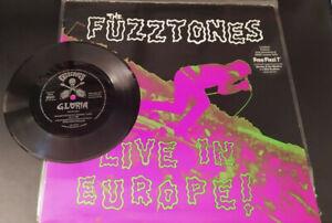 """THE FUZZTONES Live In Europe! LP vinyl + 7"""" flexi-disc 1987 Germany NM/VG+"""