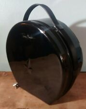 THIERRY MUGLER  Train Case/Makeup & Cosmetics Black Patent Round Case