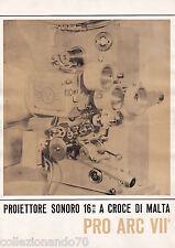 PROIETTORE SONORO 16MM -PRO ARC VII DEPLIANT  PUBBLICITARIO