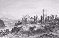 USA - RUINS FORT TICONDEROGA (ex FORT CARILLON) - Engraving from 19th century