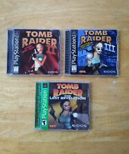 Playstation 1 Ps1 Tomb Raider Ii, Iii, & Last Revelation Set Lot Of 3 💥 Tested