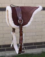 HORSE SADDLE USED BAREBACK PAD BLANKET BROWN EQUINE WESTERN ENGLISH TACK