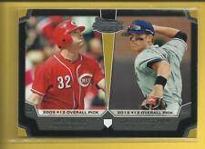 Jay Bruce 2012 Bowman Draft Dual Top 10 Picks Insert Card # TP-BC Indians MLB