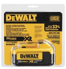 DeWalt DCB204 20V MAX XR Lithium Ion Battery ~ NEW! Free Shipping