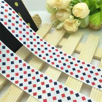 NEW DIY 5 Yards 1'' 25mm Color Small block Grosgrain Ribbon Hair Bow Sewing