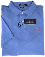 NEW $89 Polo Ralph Lauren Blue Shirt Mens Short Sleeve Cotton Mesh Classic Fit
