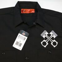 NEW NWT DICKIES Embroider PISTONS GARAGE MECHANIC PIT CREW CAR RACING WORK SHIRT
