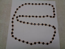 VINTAGE SWAROVSKI NECKLACE SPARKLING BLACK CASED BEZEL SET CRYSTAL BEADS