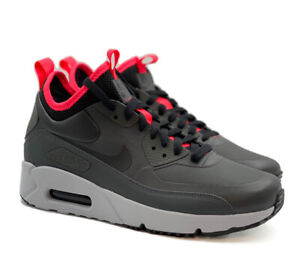 Nike Air Max 90 Mid Winter Anthracite Black Red 924458 003 Multiple Sizes New