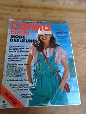 MAGAZINE BURDA VINTAGE CARINA  MAILLOT DE BAIN SALOPETTE ROBE ETE.  1979