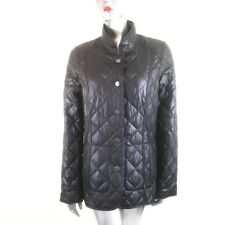 Stunning Baronia Black Quilted Jacket  Leopard Print Lining German Design Size10