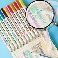 8/12 Colors Pen Card Writing Drawing Double Line Outline Fluorescent Pen*Gift