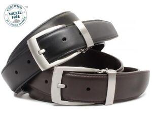 Nickel Smart Brown and Black Dress Belt