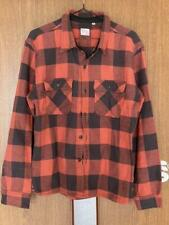THE FLAT HEAD Check Flannel Shirt Red Size 40 Men's Tops Long Sleeve