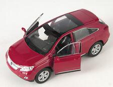 Livraison rapide lexus rx 450 H rouge/red welly modèle auto 1:34 NOUVEAU & OVP