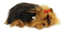 PERFECT PETZZZ YORKIE PLUSH PUPPY BREATHING HUGGABLE ANIMAL DOG REAL PET SOFT