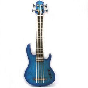 MiNi 4string ukulele electric bass in blue