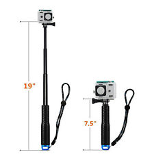 Extendable Go Pro Pole - Adjustable Selfie Stick Holder Waterproof For Gopro 5