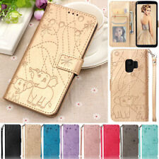 Elephant Wallet Leather Flip Case Cover For Samsung S8 S9 S10+ A750 A3 A5 2017