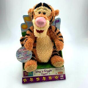 VINTAGE Disney Sing and Giggle Plush Tigger | 1998 | Fisher Price | Working NIB