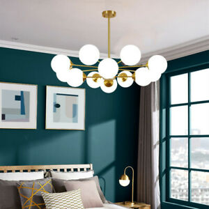 Kitchen Chandelier Lighting Glass Ceiling Light Lobby Lamp Gold Pendant Light