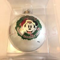 Disney Family Holiday Party Christmas Ornament 2001 New In Box Santa Mickey