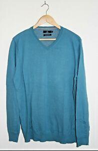 Jeff Banks London Mens Boys Sweater Jumper Fashion Designer Size M 100% Cotton