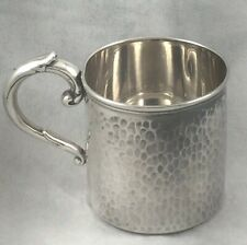 Hammered 950 Sterling Baby Cup 2 1/4""