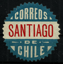 CHILE, OFFICIAL SEAL, SANTIAGO, SAWTOOTH, MINT HINGED