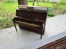 Vintage Mini Wood Piano Peters Wooden Salesman Sample Dollhouse
