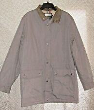Vintage Fieldmaster Mens Winter Coat Size X-Tall Large Gray Lined Zippered