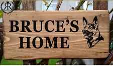 Personalised German Shepherd Alsatian Dog House Name Plate Sign Home Plaque New