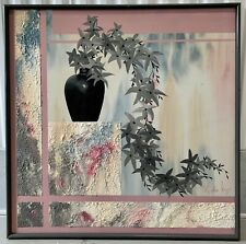 Stephen Kaye Canvas Painting Signed Listed Artist 1980s Floral Still Life