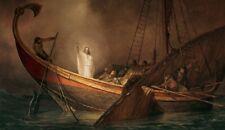 Arnold Friberg PEACE BE STILL 25x43 S/N Canvas Giclee Art Print Jesus Calms Sea