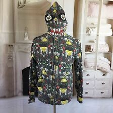 Volcom Sheckler Full Zip Hoodie Monster Face Jesse Breaking Bad Vintage Size M