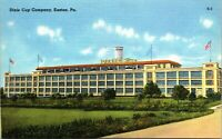 Pennsylvania PA Dixie Cup Company Easton Postcard Old Vintage Card View Standard