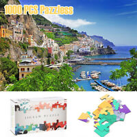 Italian Bay Puzzles 1000 Pieces Jigsaw Paper Adult Kids Learning Education Toys