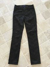 NOT YOUR DAUGHTERS JEANS, NYDJ WOMENS LEGGINGS, BROWN FLORAL PATTERN, US 0, AU 8