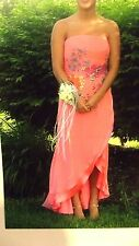 **JOVANI** Prom Pageant Evening Homecominng STRAPLESS DRESS --SEQUIN/BEADED-SZ 8