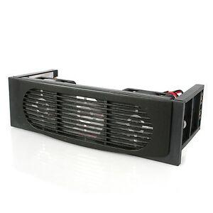 """EverCool EC-HK-3F-BK Hard Disk Drive 5.25"""" inch Bay 3 Fan Case HDD Cooler -Black"""
