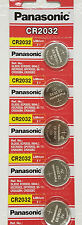 **FRESHLY NEW** 5x Panasonic CR2032 Lithium Battery 3V Coin Cell Exp 2024